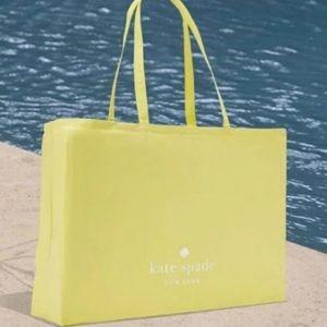 NWT Kate Spade | Yellow Canvas Tote Bag XL
